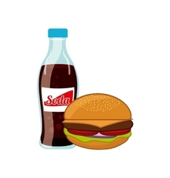 fast food and soda design vector image