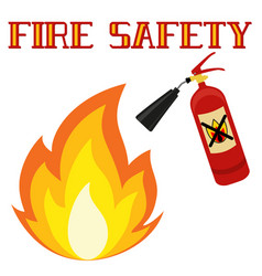 Fire safety poster isolated on white background vector