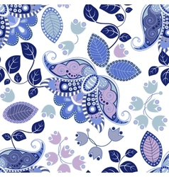 Floral seamless pattern summer flowers wallpaper vector