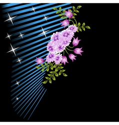 Flowers and stars vector