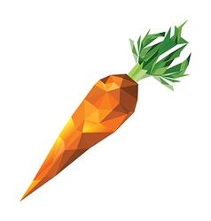 Geometric polygonal carrot vector