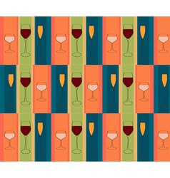 glasses wine pattern vector image vector image