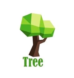 Green polygonal tree abstract icon vector image vector image