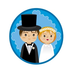 Grooms and wedding vector
