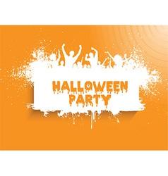 grunge halloween party 2508 vector image vector image