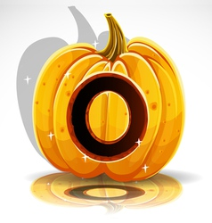 Halloween pumpkin o vector