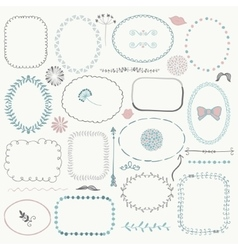 Hand Sketched Rustic Frames Borders vector image vector image