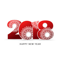 happy new year 2018 theme red vector image