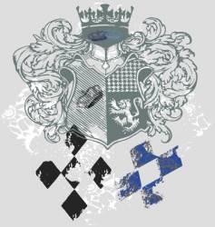 king shield vector image vector image