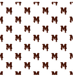 Letter m from latin alphabet made of chocolate vector