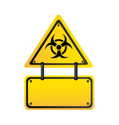 metal biohazard warning notice sign icon vector image