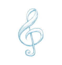 music note draw vector image vector image