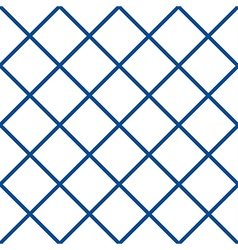Navy blue white grid chess board diamond vector