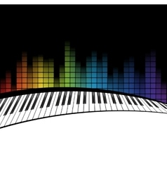 piano icon template vector image vector image