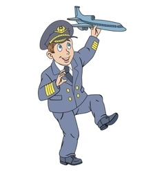 Pilot with plane vector image