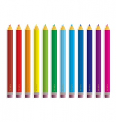 rainbow pencil vector image vector image