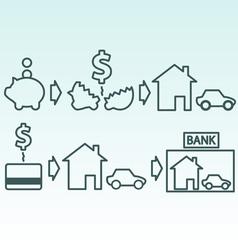 Savings and credit vector