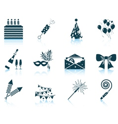 Set of celebration icons vector