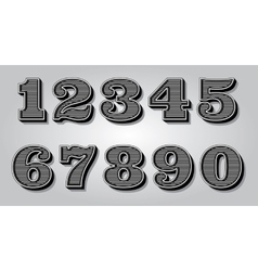 set stylized digits for design certification vector image