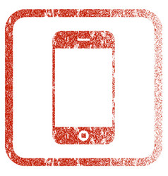 Smartphone framed textured icon vector