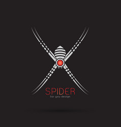 Spider design on black background insect animal vector