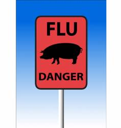 swine flu sign vector image vector image