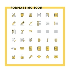 Text formatting flat design icon set Document vector image