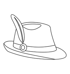 Tirol hat icon outline style vector