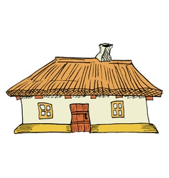 Ukrainian traditional house vector image