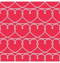 Valentines day pattern hearts background vector
