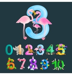 Ordinal number 3 for teaching children counting vector