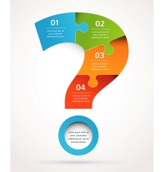 Question mark abstract design and infographics vector image