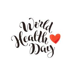 Health day wording vector