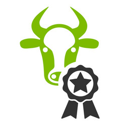 cow award flat icon vector image