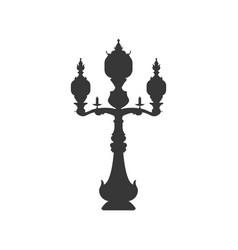 Antique chandelier light vector