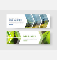 Web banners with a place for photos in the form vector