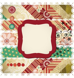 Scrapbook background vector