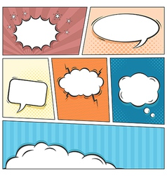 Comic speech bubbles background vector image
