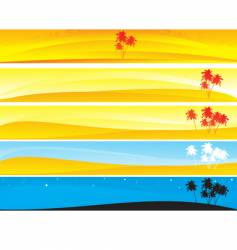 tropical and palm banner vector image