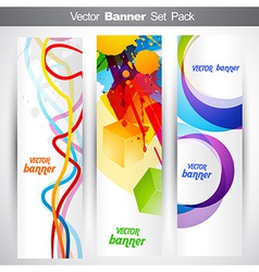 Set of vertical headers vector