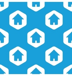 House hexagon pattern vector