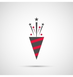 Icon christmas slapstick for holiday season vector