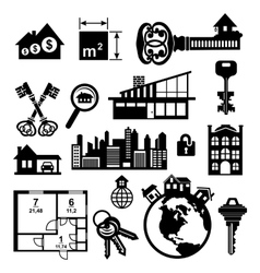 Real estate icons set vector