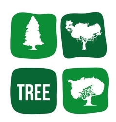 Eco tree design vector