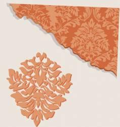 floral segment vector image