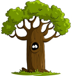 tree with eyes vector image
