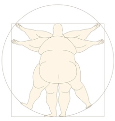 Conceptual modern icon Vetruvian man basis of vector image
