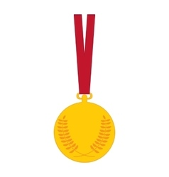 Gold medal medal icon isolated on white vector