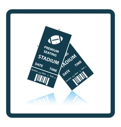 American football tickets icon vector image vector image