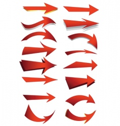 arrow set vector image vector image